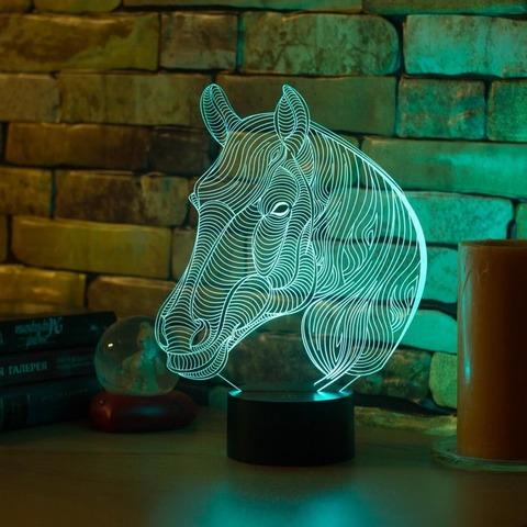 3D светильник Лошадь с гривой