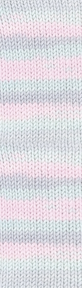 Пряжа Alize Baby Best Batik 6623 розово-бирюзовый