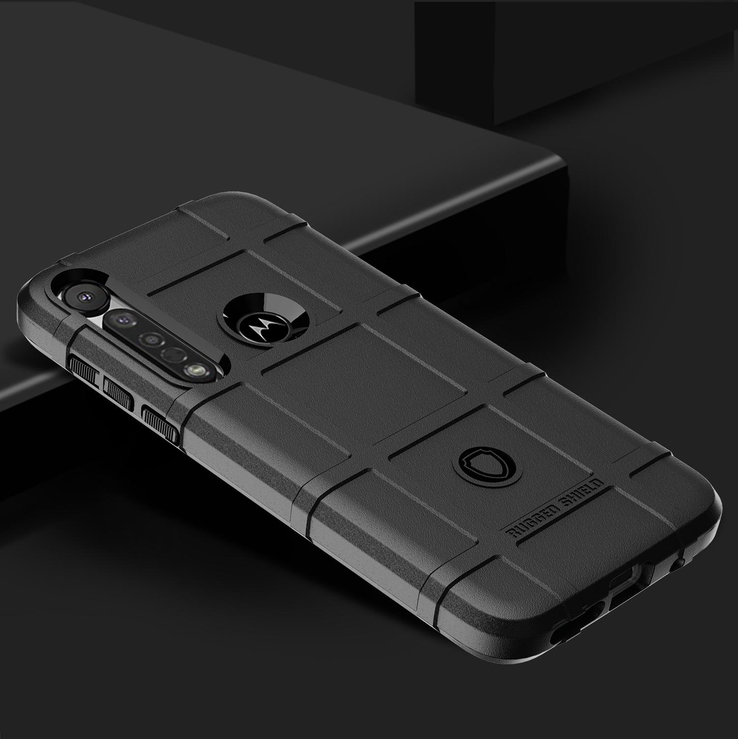 Чехол Motorola Moto G8 plus цвет Black (черный), серия Armor, Caseport