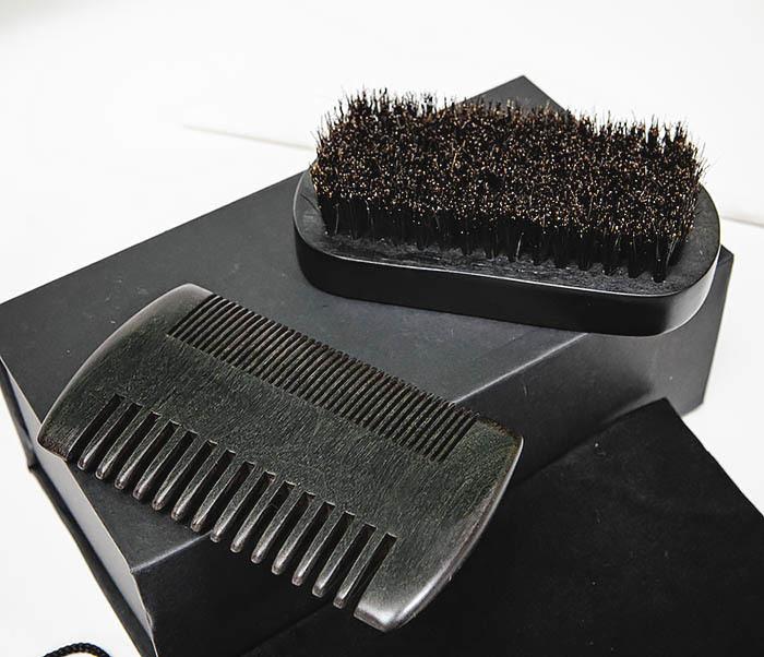 CARE151-1 Подарочный набор из щетки и гребня для бороды фото 06