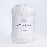 Пряжа Infinity Cotton Linen 1002 белый