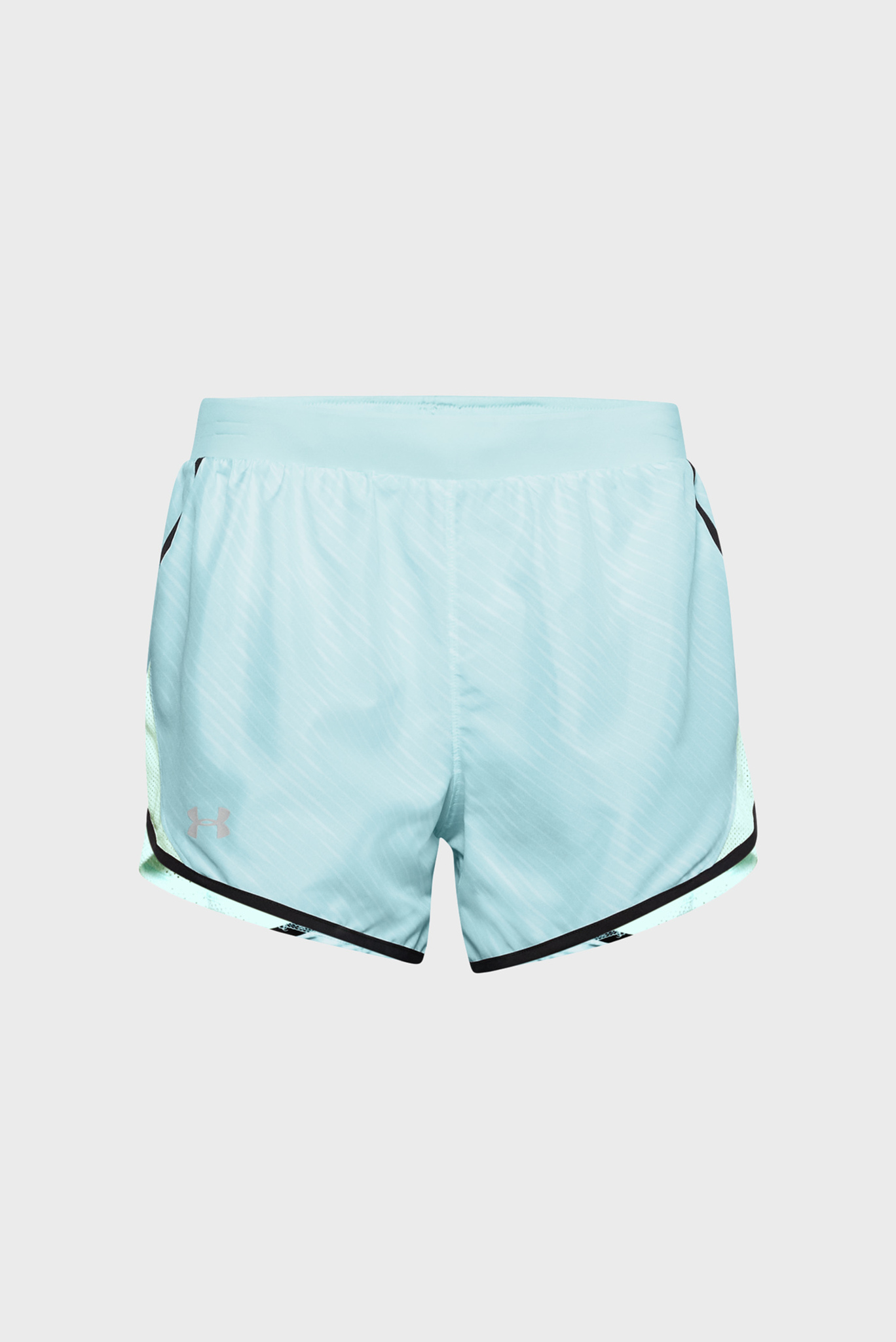 Женские голубые шорты W UA Fly By 2.0 Printed Short-BLU Under Armour
