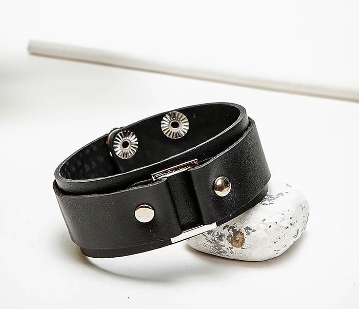 BL799-1 Кожаный браслет напульсник ручной работы фото 03