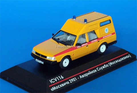 Moskvich-2901 Emergency service Mosvodokanal restyling Limited Edition of 75 1:43 ICV116
