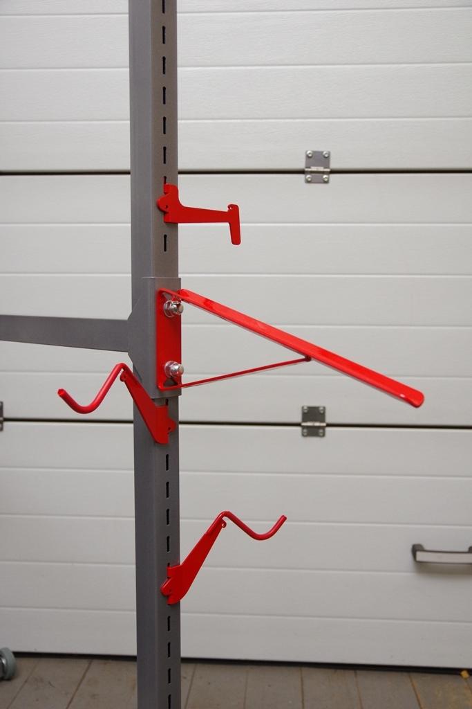 Подкатная стойка для хранения 4 велосипедов (6 велосипедов, если 4 из них детские)
