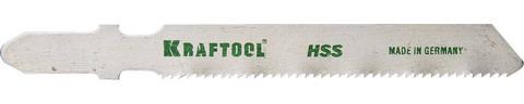 Полотна KRAFTOOL, T118B, для эл/лобзика, HSS, по металлу (1,5-5мм), EU-хвост., шаг 2мм, 55мм, 2шт