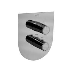 Встраиваемый термостатический смеситель для душа TZAR 348712SNC никель, на 2 выхода