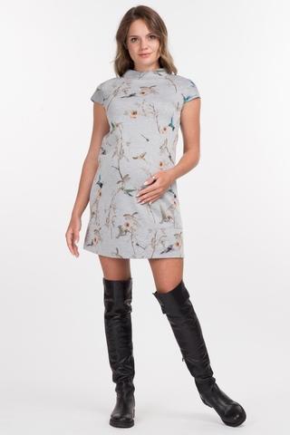 Платье для беременных 06119 принт птицы