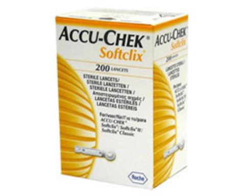 Ланцеты для прокалывателя «Акку-Чек Софткликс» (Accu-Chek Softclix), 200 штук