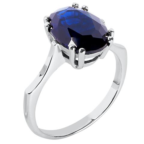 Кольцо из серебра с корунд сапфиром Арт.1182кс