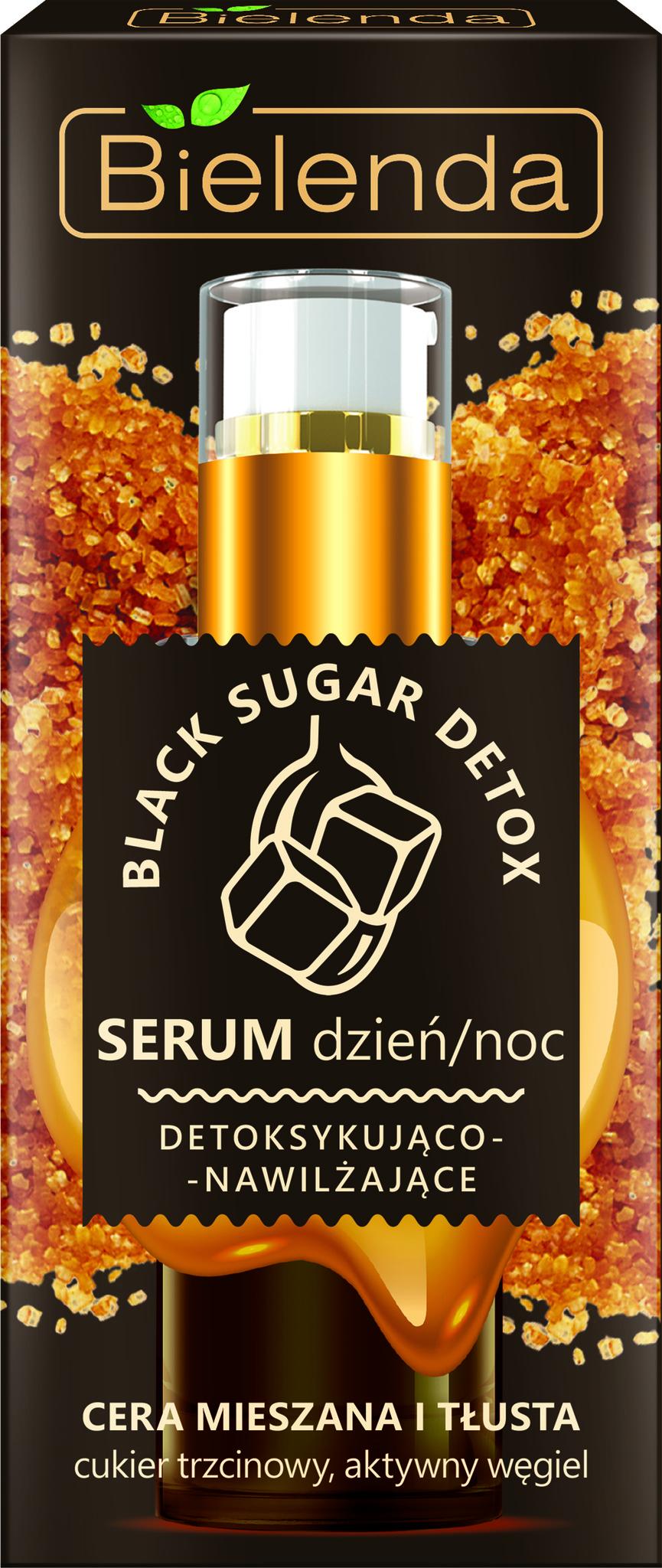 BLACK SUGAR DETOX  Детоксифицирующая и увлажняющая сыворотка день / ночь для смешанной и жирной кожи