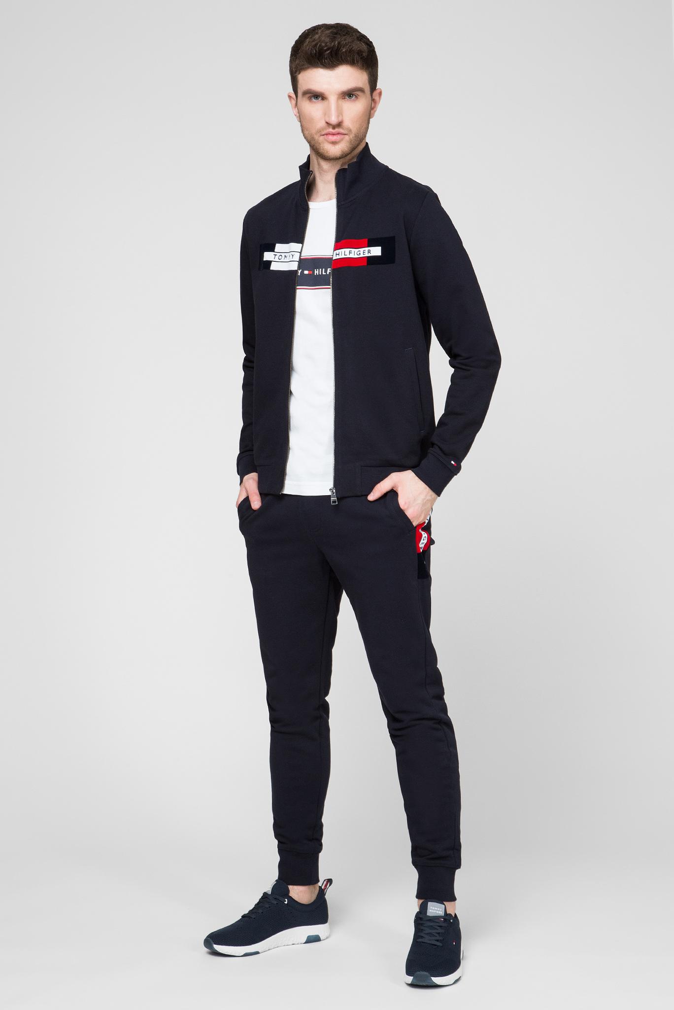 Мужская белая футболка LOGO CHEST STRIPE Tommy Hilfiger