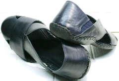 Темно синие босоножки сандали мужские закрытые Luciano Bellini 76389 Blue.