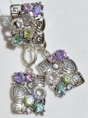 Эврика (кольцо + серьги из серебра)