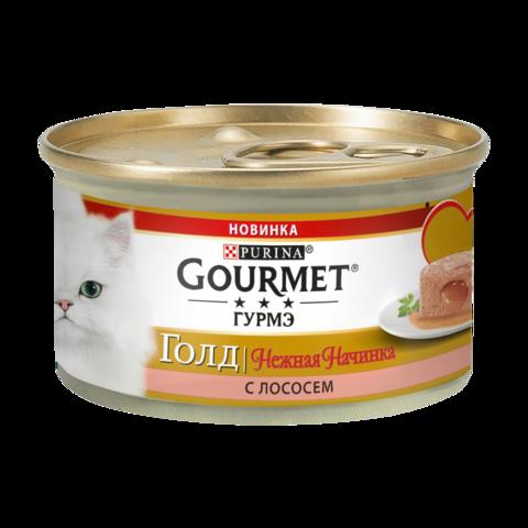 Gourmet Gold Консервы для кошек Нежная начинка с Лососем
