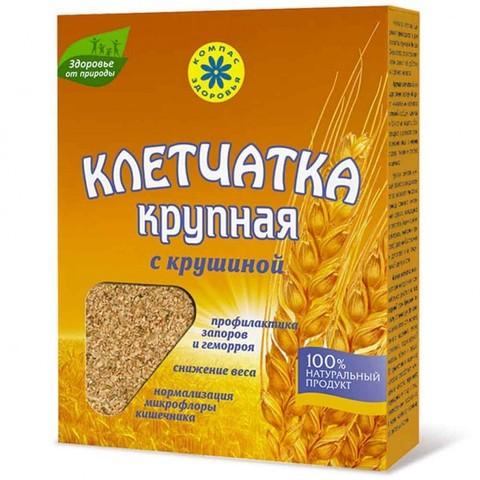 Клетчатка Компас Здоровья крупная пшеничная с крушиной, 150 г