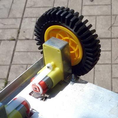 Мотор-редуктор для робота 90° (1:120)