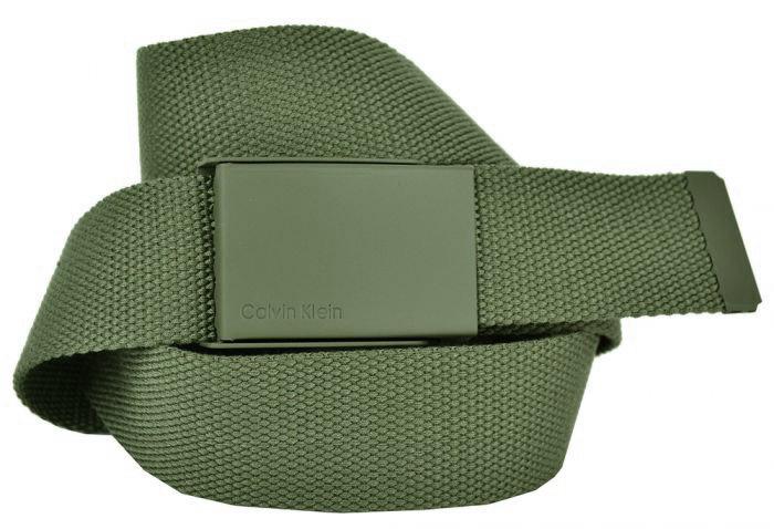 Ремень текстильный зелёный (хаки) стропа 4 см 40Stropa-CK-006-1