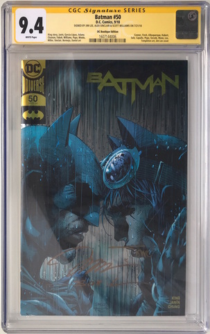 CGC Batman #50 - DC Gold Boutique Edition. Автограф Джим Ли, Алекс Синклер и Скотт Уильямс. Состояние 9,4