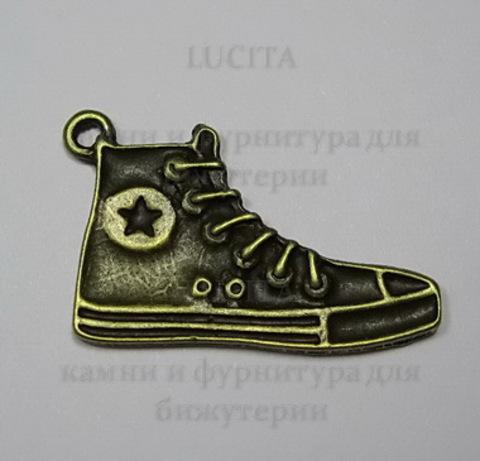 """Подвеска """"Кед""""  32х20 мм (цвет - античная бронза) ()"""