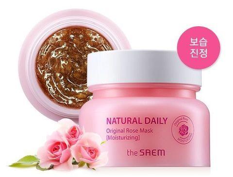 Маска для лица с лепестками роз Natural Daily Original Rose Mask
