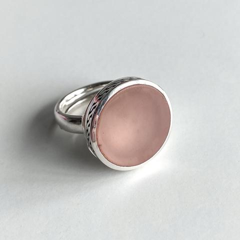 Кольцо с секретом DIONYSUS - Розовая яшма