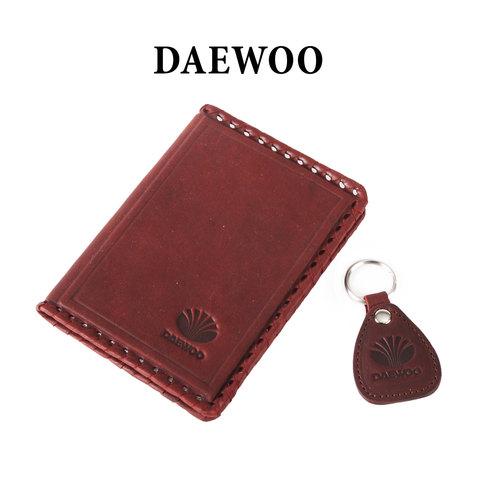 Обложка для водительского удостоверения с брелком «DAEWOO»
