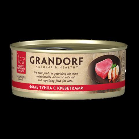Grandorf Tuna with Prawn in Broth Консервы для кошек Филе тунца с креветками