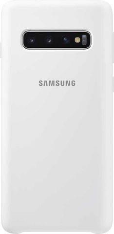 Чехол SAMSUNG Silicone Cover, для Samsung Galaxy S10 белый