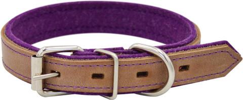 Зооэкспресс ошейник SUOMI LINE бежевый/фиолетовый 35мм 50-60см
