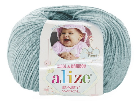 Пряжа Baby wool ( Alize) 114 Мята