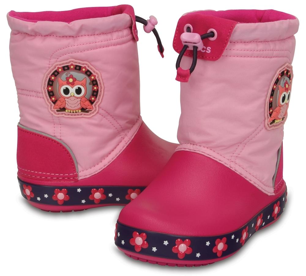 Детские сапожки Kids' CrocsLights LodgePoint Night Owl Boot фото 203511