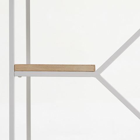 Книжный стеллаж Pyke 80x93 белый