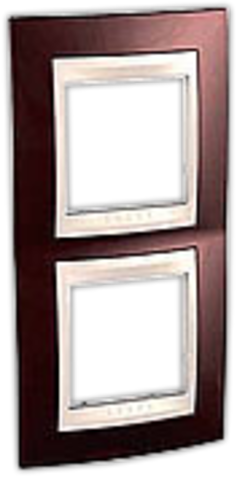 Рамка на 2 поста. Цвет вертикальная Терракотовый/Белый. Schneider electric Unica Хамелеон. MGU6.004V.851