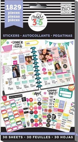 Блокнот со стикерами для ежедневника Create 365 Happy Planner Sticker Value Pack- Basics, 1829 шт
