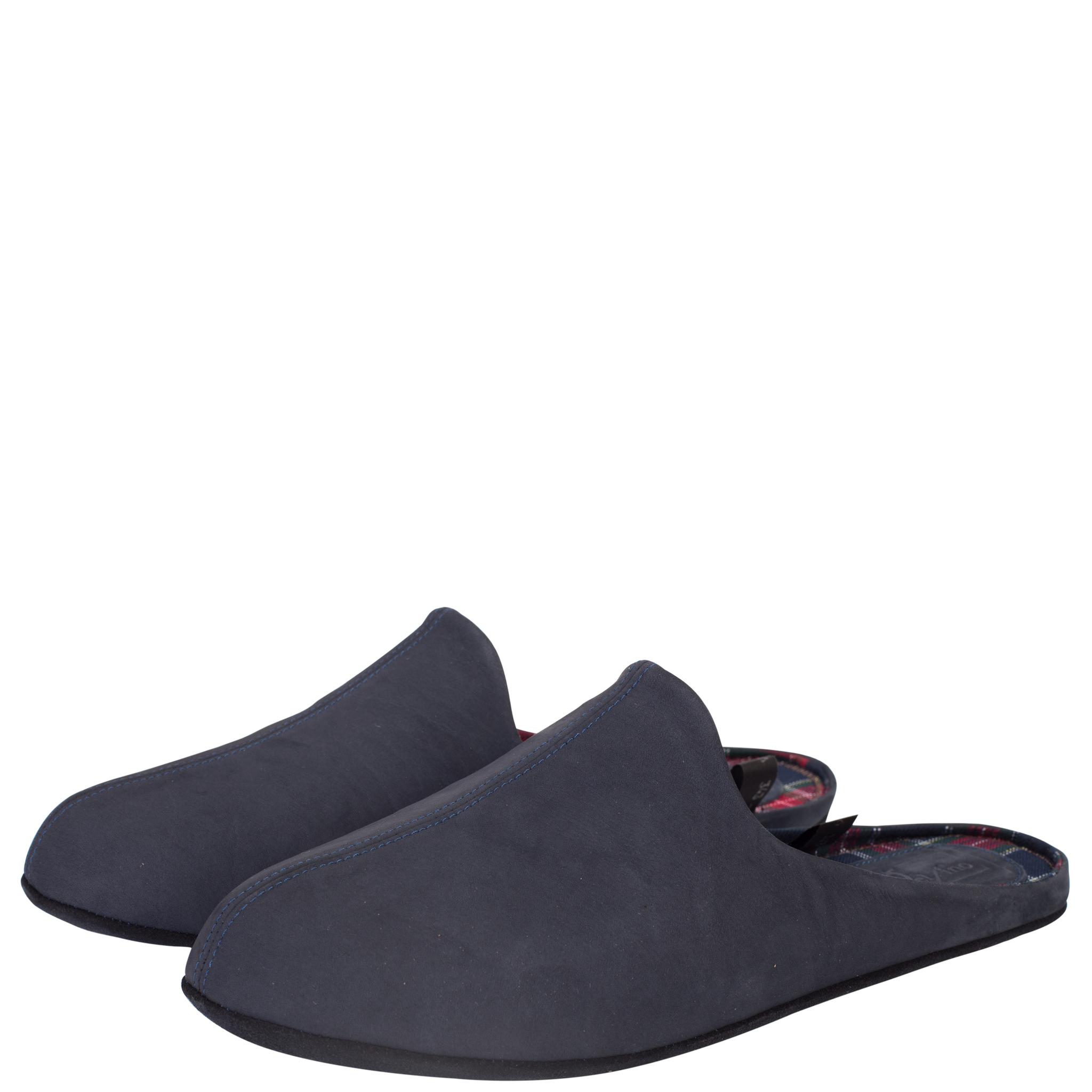776137 туфли домашние мужские синие больших размеров марки Делфино