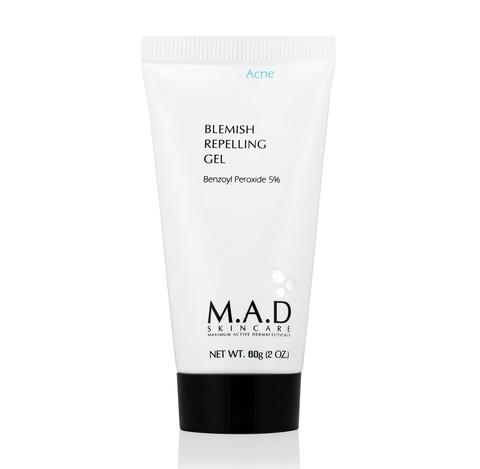 Гель для ухода за кожей с акне с содержанием 5% бензоил пероксида M.A.D Skincare Acne Blemish Repelling Gel 5% BPO, 60 мл