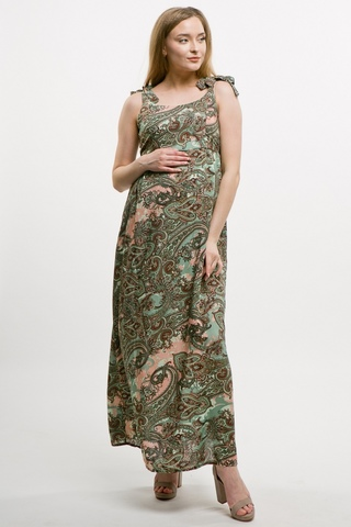 Платье для беременных 10648 зеленый