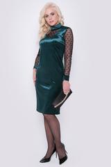 """<p>Обалденное платье для Ваших лучших выходов """" в свет""""! Мягкий бархат идеально ложится по фигуре. Сетка стрейч идеально дополнит наряд. Длина платья: 104см.</p>"""