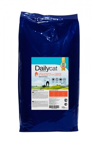 Dailycat Adult Indoor Turkey для домашних кошек с индейкой 10 кг