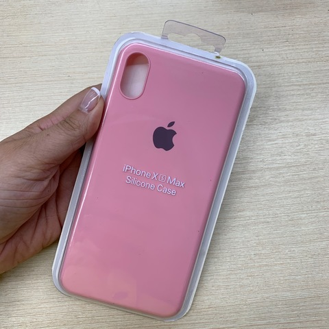 Чехол iPhone XS Max Silicone Slim Case /pink/