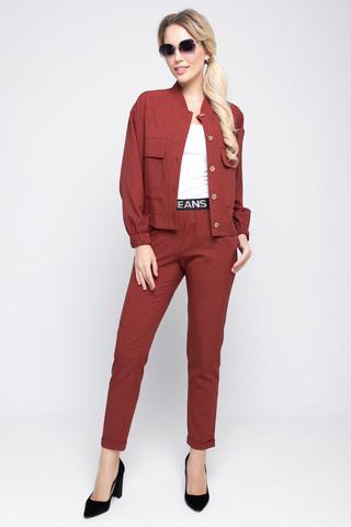<p>Хит сезона! Модный брючный костюм из льна, у которого в этом сезоне нет конкурентов. Бомбер прекрасно дополняет брюки на декоративной резинке.</p>