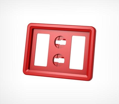 Пластиковая рамка А7, красная TECHNO MINI