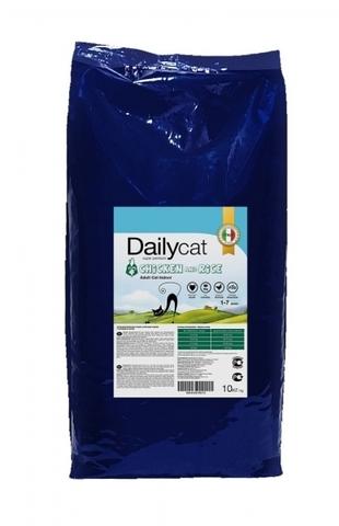 DailyCat Adult Indoor Chicken and Rice сухой корм для взрослых кошек с курицей и рисом 10 кг