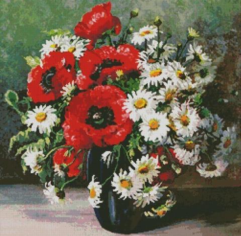 98977 Маки и маргаритки (Poppies and daisies)