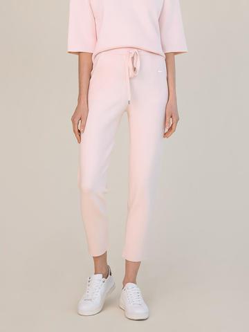 Женские брюки светло-розового цвета из вискозы - фото 4