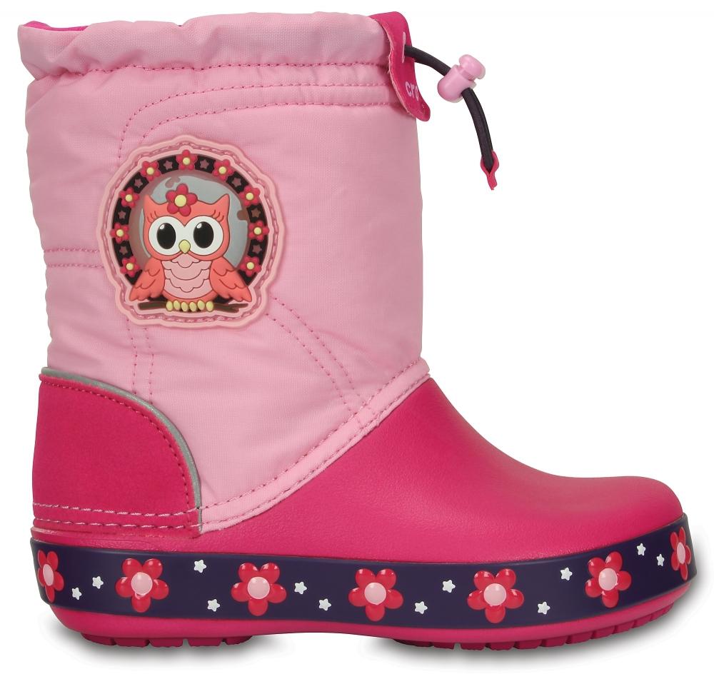 Детские сапожки Kids' CrocsLights LodgePoint Night Owl Boot