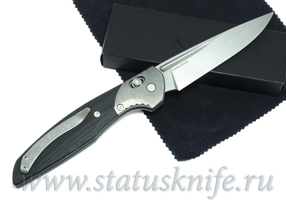 Нож Широгоров 110b Cronidur 30 EVO больстер титан - фотография