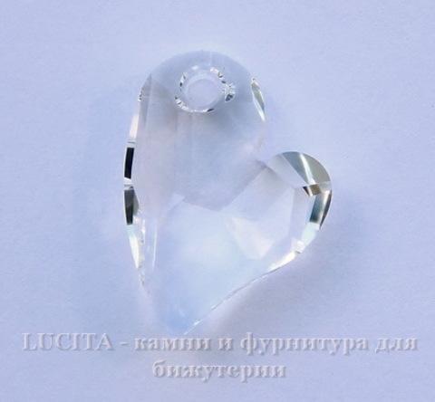 6261 Подвеска Сваровски Сердечко Crystal  (17 мм)