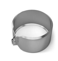 Хомут обжимной TMF ф200, 0,5мм, нерж